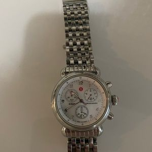 Stainless steel Michele watch